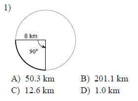 Circles-Arc-length-and-sector-area-Easy