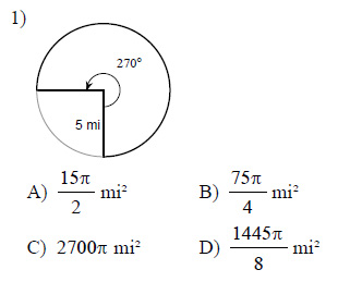 Circles Arc Length And Sector Area Worksheets