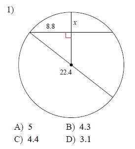 Circles - Arcs and chords Worksheets