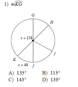 Circles-Measures-of-arcs-and-central-angles-Hard