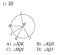 Circles Naming Arcs And Central Angles Worksheets