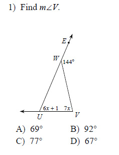 Exterior Angle Theorem Worksheets