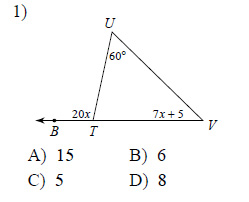 Exterior angle theorem worksheets for Exterior angle theorem