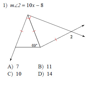 Isosceles And Equilateral Triangles Worksheets