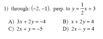 write an equation of the line in point-slope form that contains the bisector of abc