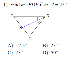 Angle Bisector Real Life Example Example of one question: