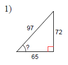 how to find measure of angle using trigonometry